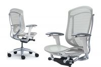 OKAMURA CONTESSA 2 White shell Chair Light grey Mesh