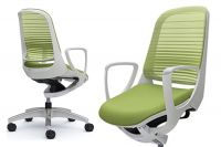 LUCE White body Chair Lime Green