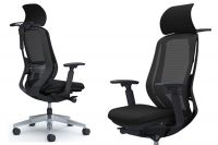 SYLPHY Polished base Black Chair