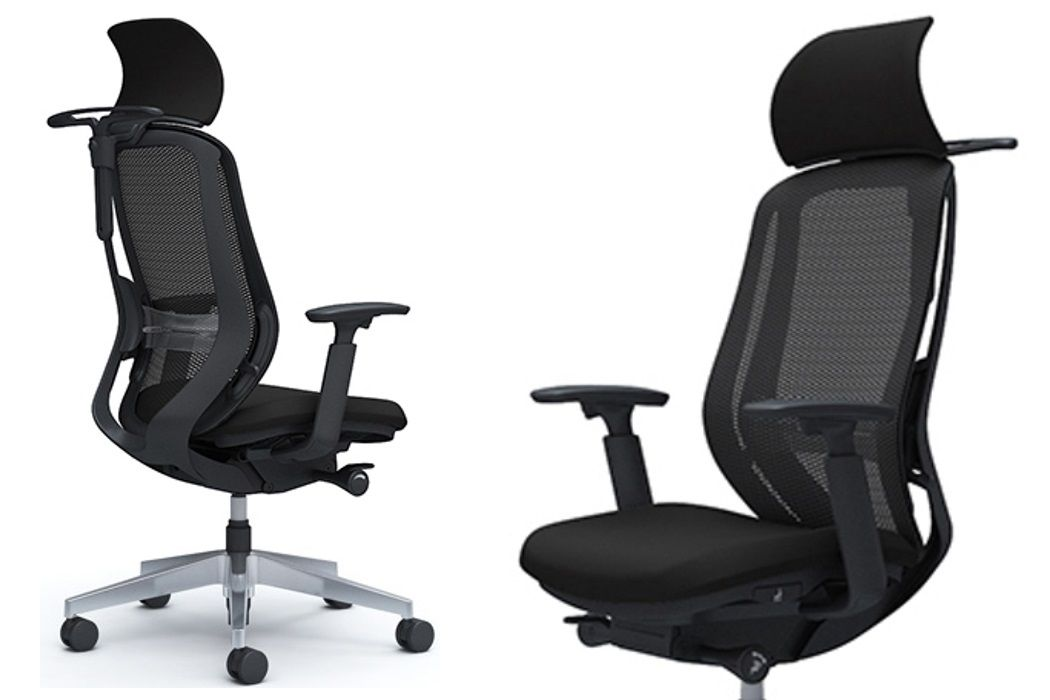 OKAMURA SYLPHY Chair with Headrest, Lumbar Support and Coat Hanger