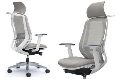 OKAMURA SYLPHY Stylish White Body Ergonomic Office Chair