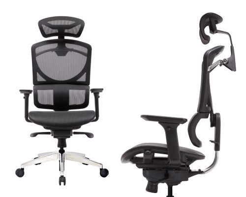 ERREVO® ZERO Full Black Mesh Computer Office Chair