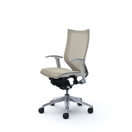 OKAMURA CP White Shell Chair High Back